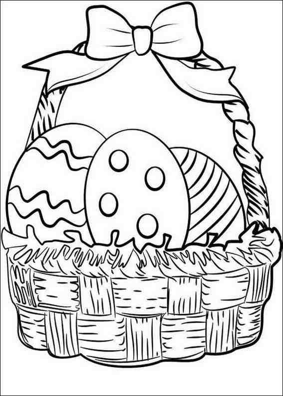 Basket Coloring Page