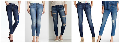Old Navy Mid Rise Rockstar Skinny Jeans $25.00 (regular $34.94)  Banana Republic Distressed Skinny Ankle Jean $39.99 (regular $98.00)  American Eagle Outfitters Jegging Jeans $49.95  Guess Power Skinny Jeans $59.99 (regular $89.00)  Genetic Denim Alexa Mid Rise Skinny Straight Crop Jean $79.97 (regular $235.00)