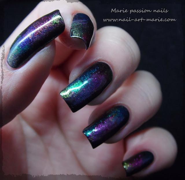 Nail art aurore boréale8