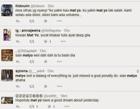 mat yo dikecam punca jdt tewas, punca jdt tewas piala malaysia, punca mat yo gagal ambil penalti, mat yo punca jdt kalah