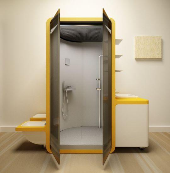 Medio Baño Minimalista:Una gran idea de diseño de baño en favor del medio ambiente, este