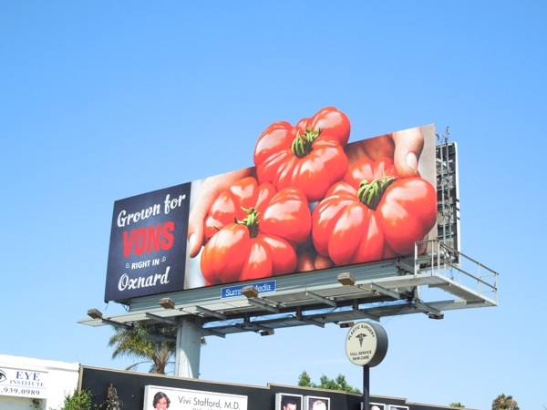 Vons tomatoes special extension billboard