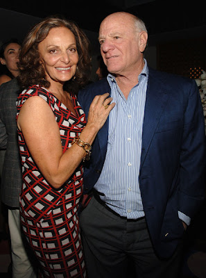 Diane Von Fürstenberg with handsome, sympathetic, calm, Husband  Barry Diller