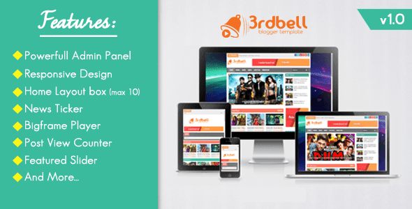 3Rdbel responsive blogger template