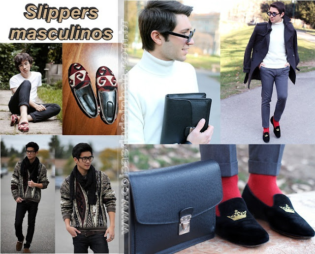 look slippers masculino