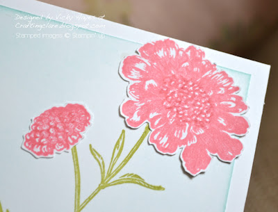 Field Flowers from Stampin' Up close up