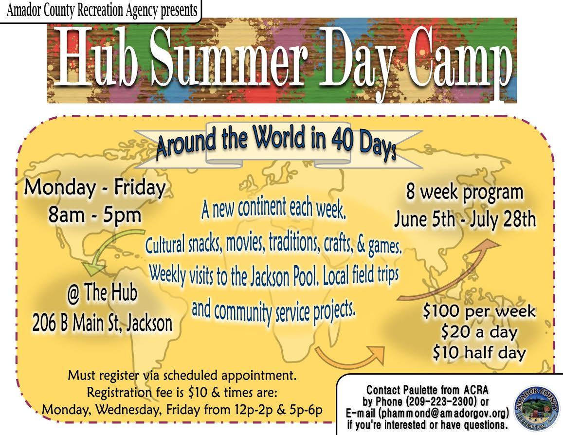 Hub Summer Day Camp ~  Through July 28