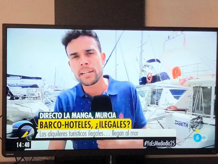 """Juan Pablo Carabias, en """"Ya es mediodía"""" de Tele 5"""