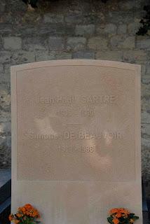 Grabstein von Jean-Paul Satre und Simone de Beauvoir
