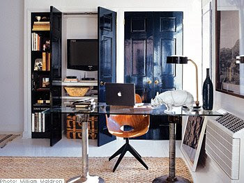 low sheen glossy black interior door doors living room. Black Bedroom Furniture Sets. Home Design Ideas