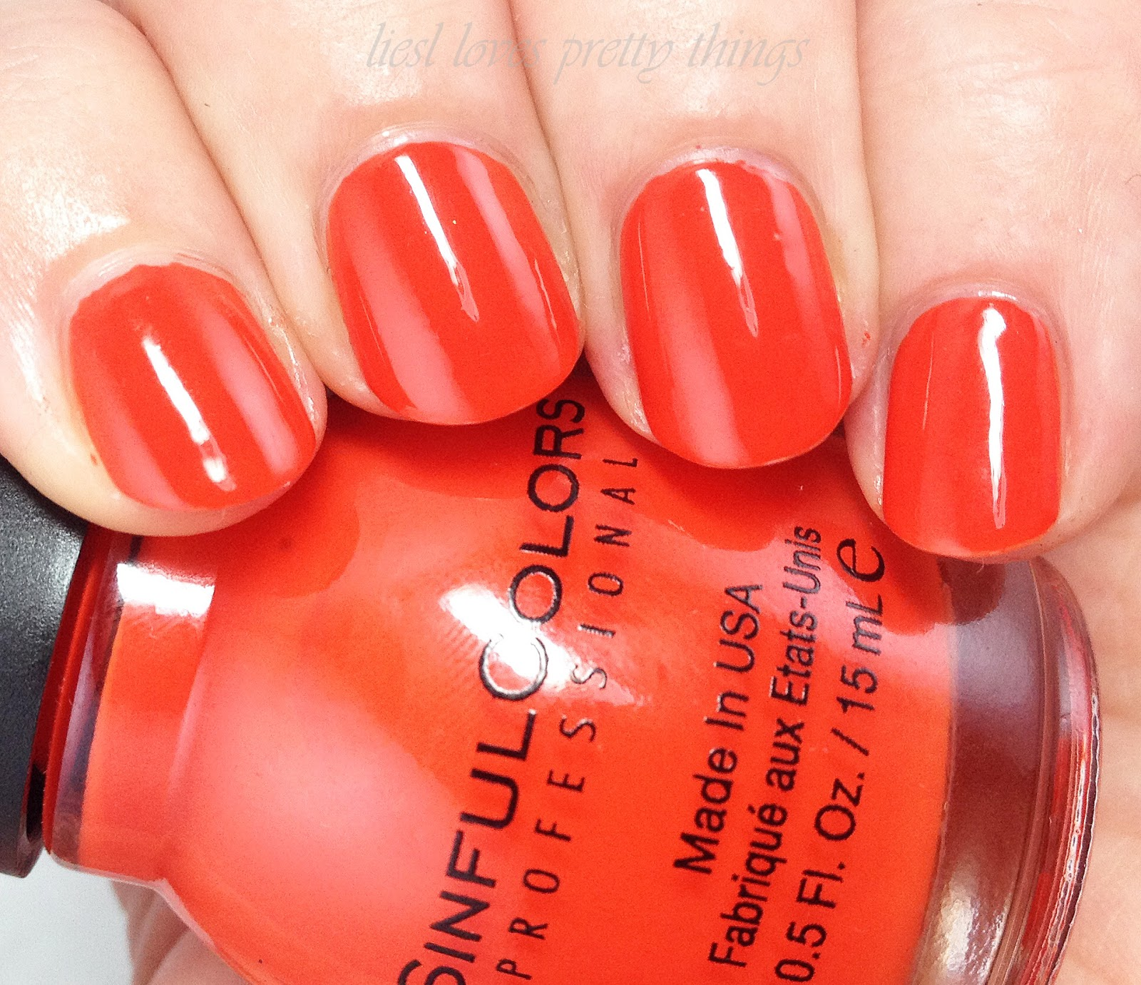 Sinful Colors Citrine swatch