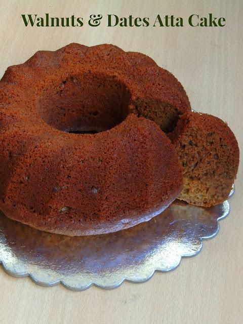 Eggless Walnuts & Dates Atta Cake