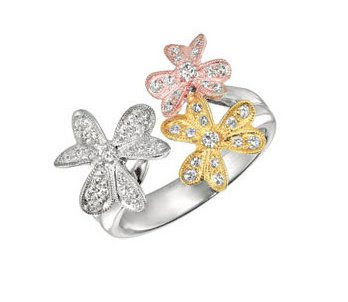 Gabriel & Co. - Diamond Flower Ring