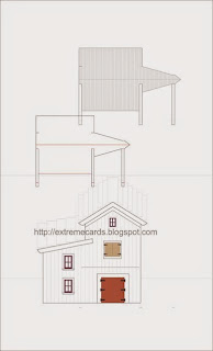 barn pop up wedding card template