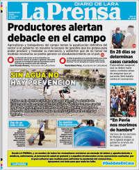 31/03/2020     PRIMERA PAGINA DIARIO DE VENEZUELA