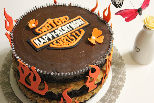 Harley-Davidson Chocolate Cake