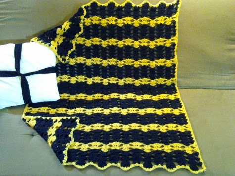 Crochet Pattern For Sports Blanket : Crochet is the Way: Free Pattern: Sports Team Afghan and ...