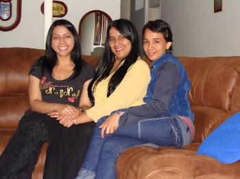 Con Carito y mamá chocolate