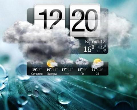 Гаджет Погода Xp