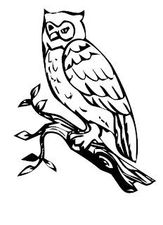 a desenhar Mamae coruja lindona colorir