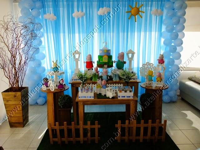 Decoração festa infantil George Pig Porto Alegre