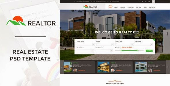 Best Real Estate PSD Template