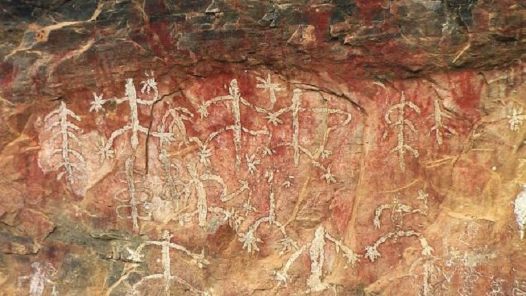 Rock paintings at risk of fading away the archaeology for Archaeological monuments in india mural paintings