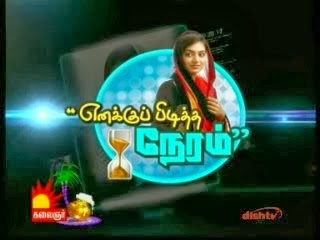 Actress Nazriya Pongal Special Interview Yenakku Piditha Neram – Kalaingnar Tv Pongal Special Tv Program Shows 14-01-2014