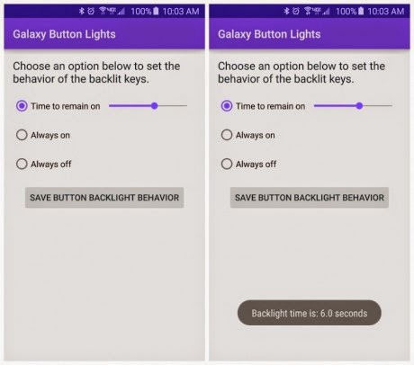 App per regolare luminosità tasti Galaxy S6