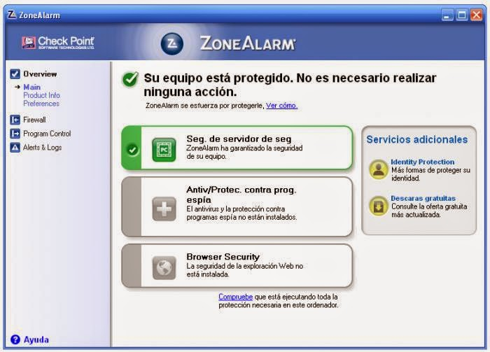 ZoneAlarm Free Firewall 2015