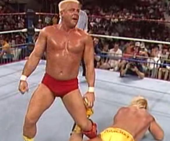 WWF / WWE Royal Rumble 1990   Rugged Ronnie Garvin Vs. Greg U0027The Hammer