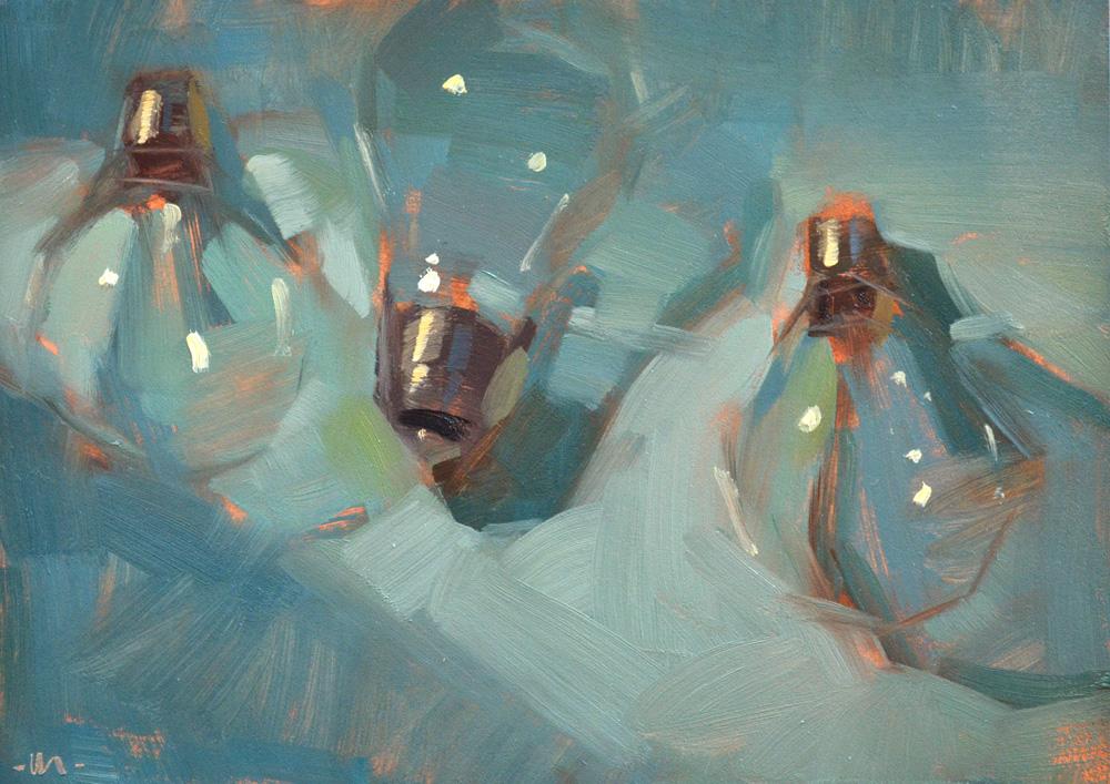 carol marine 39 s painting a day light on the bulbs