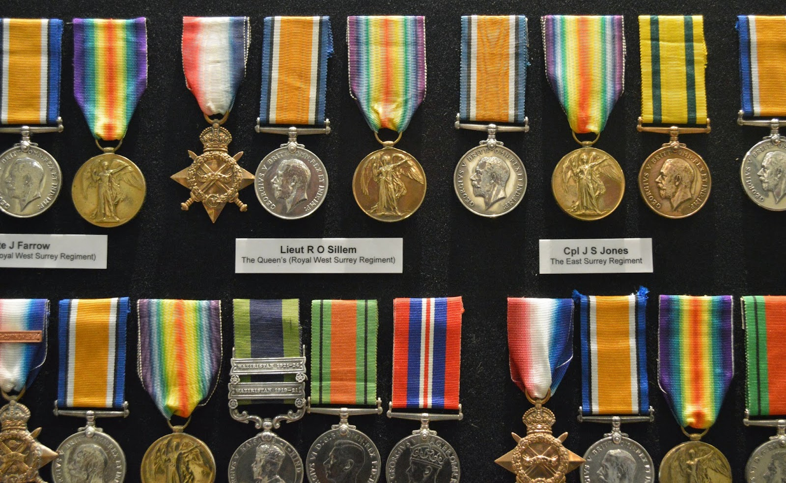 collection, Surrey Infantry Museum, Guilford, military medals, campaign, war, Victorian Cross, photo, photography, picture, award, history, World War,