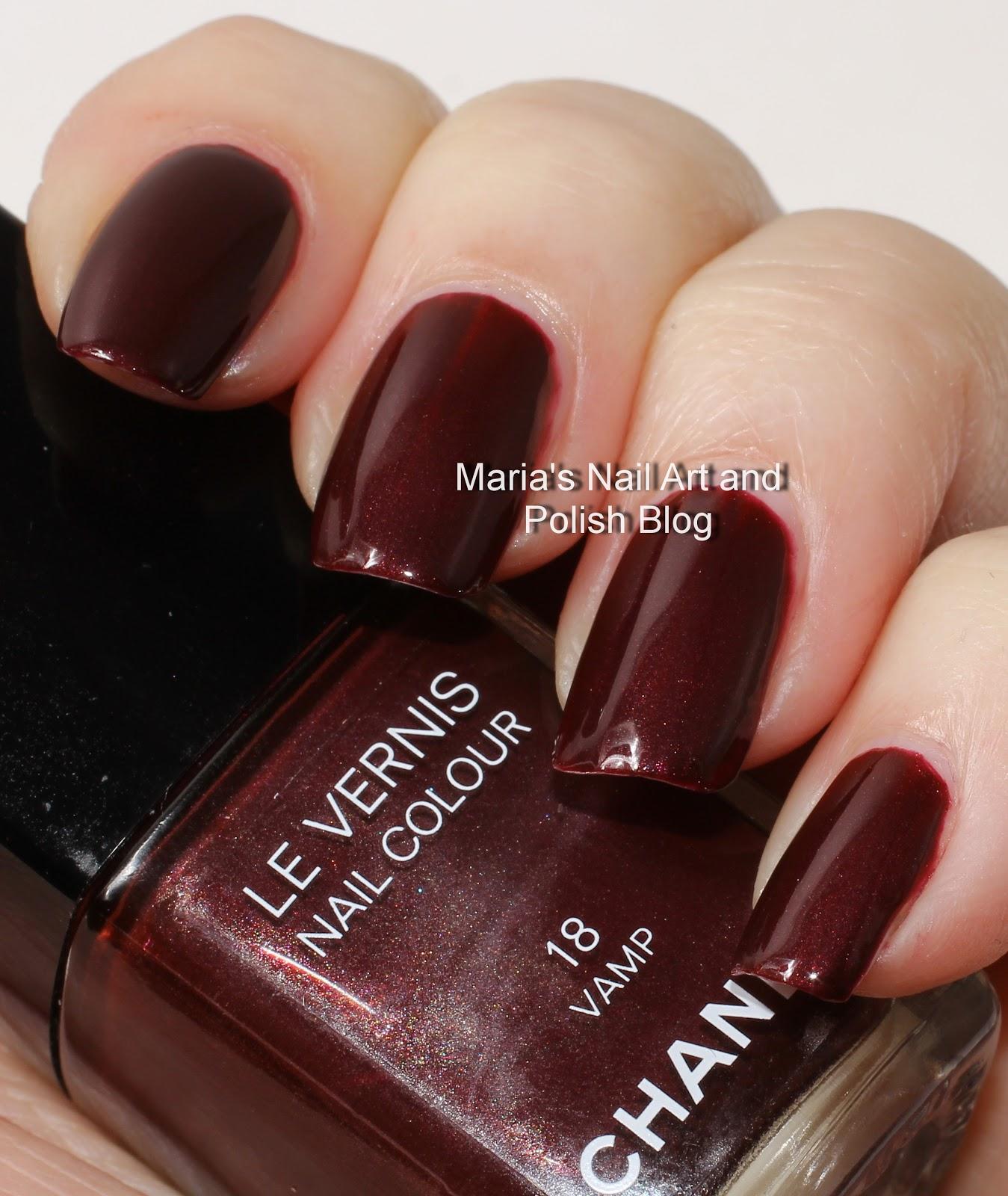Marias Nail Art And Polish Blog: Chanel Vamp 18