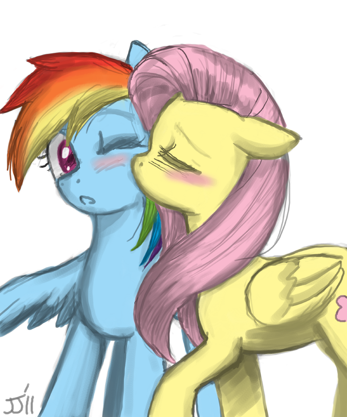 Mlp kiss rainbow dash