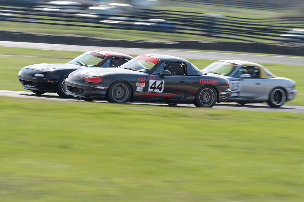 Miatas racing at Summit Point SCCA MARRS 1