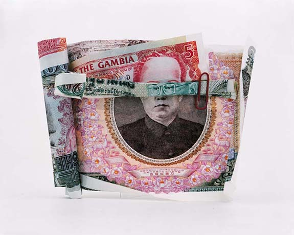 fotomontaje de billetes