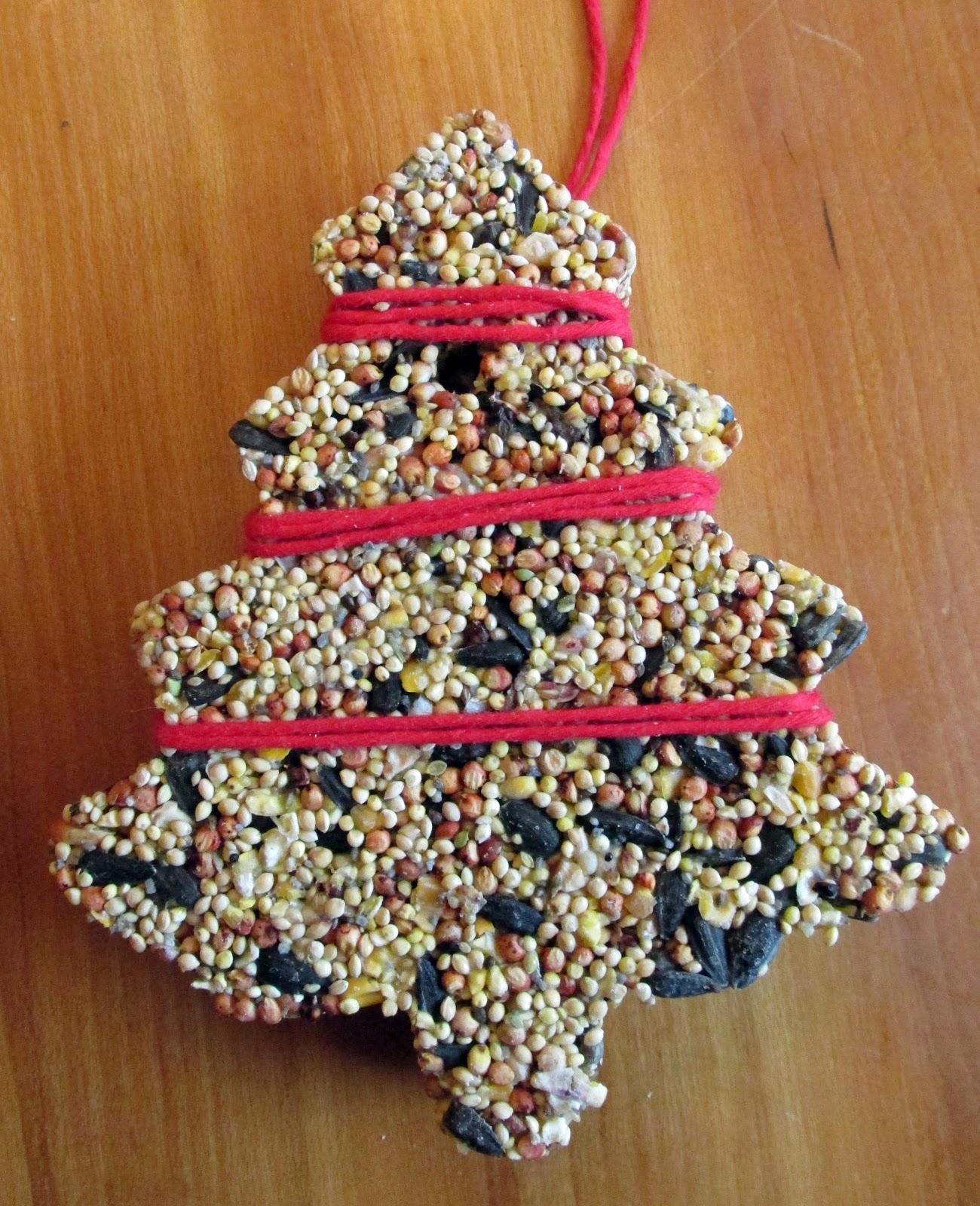 Fácil DIY ornamentos de semillas de pájaros hechos con jell-o 1 Más de 2