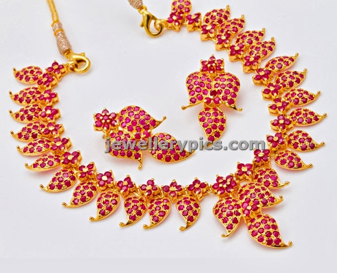 ruby mango necklace short length design