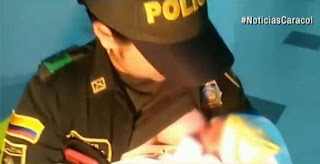 Police Officer Breastfed baby, cop breastfeeding baby, police breastfeeding infant