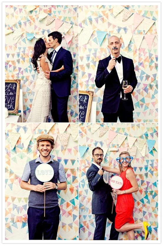 Manualidades creativas vintage ideas para photocall de for Photocall boda vintage