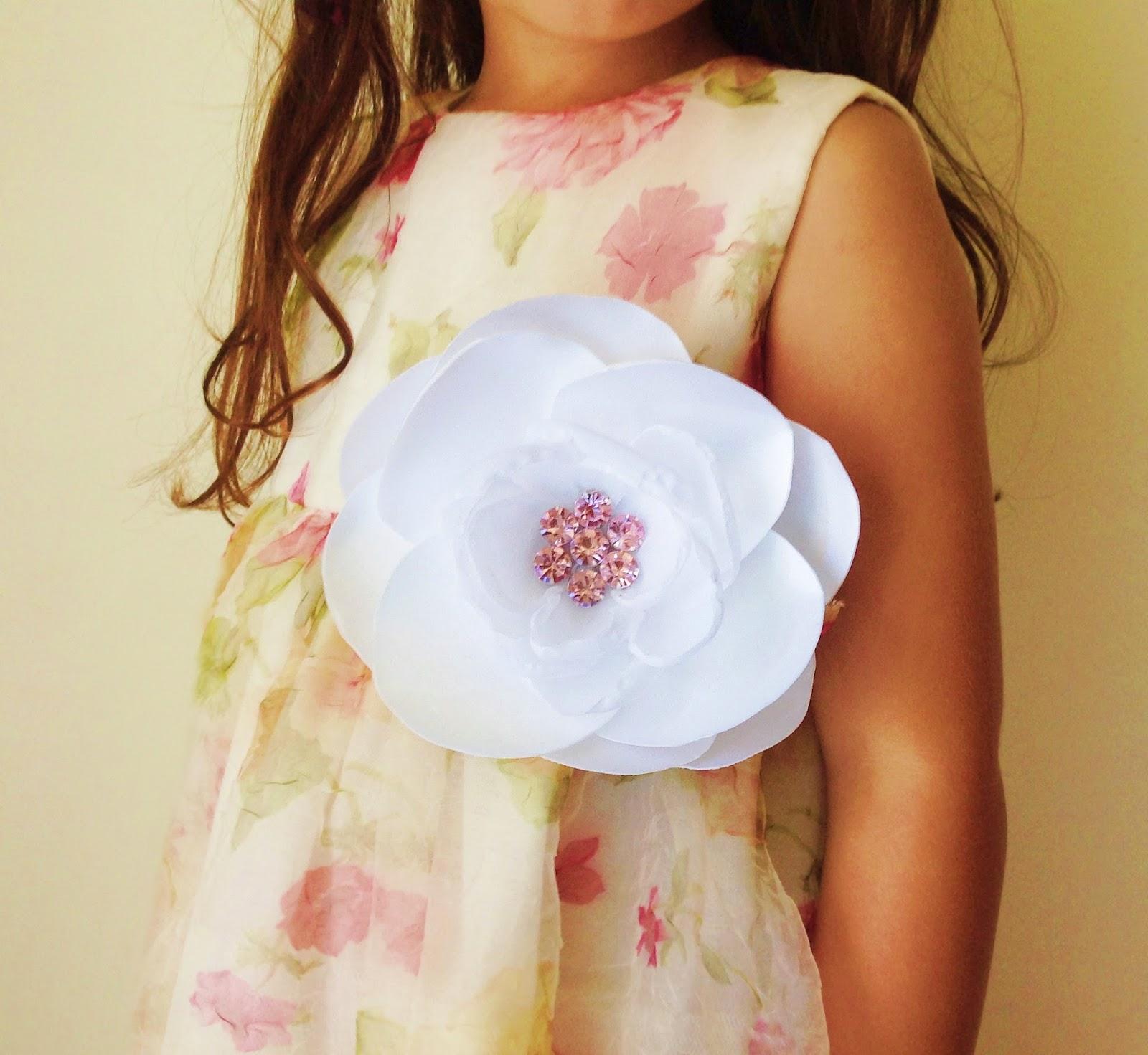Fabric flowers to apply onto dress