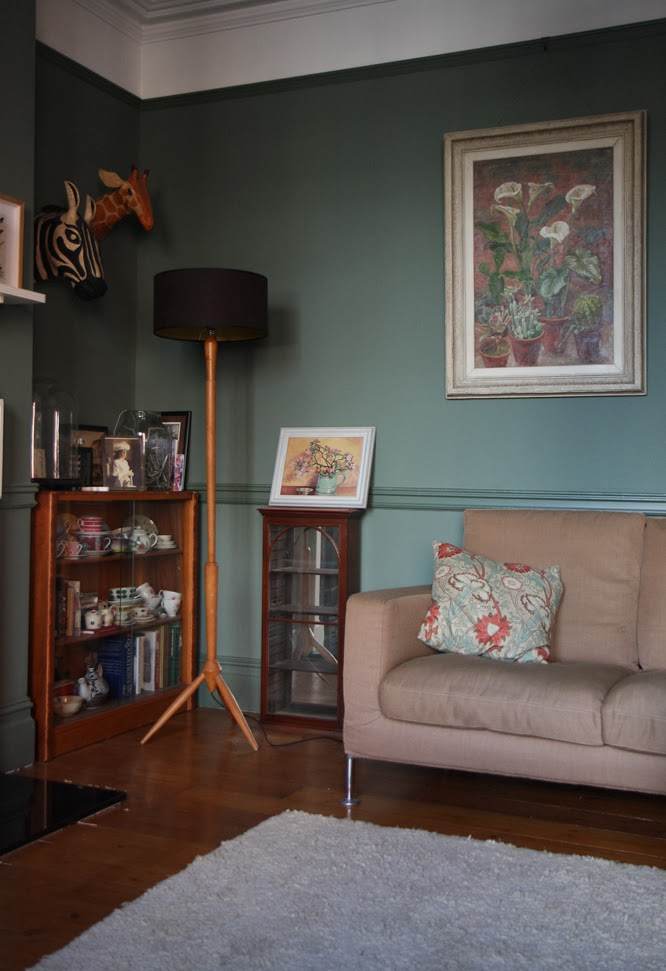 Corner of our sitting room by Alexis at www.somethingimade.co.uk