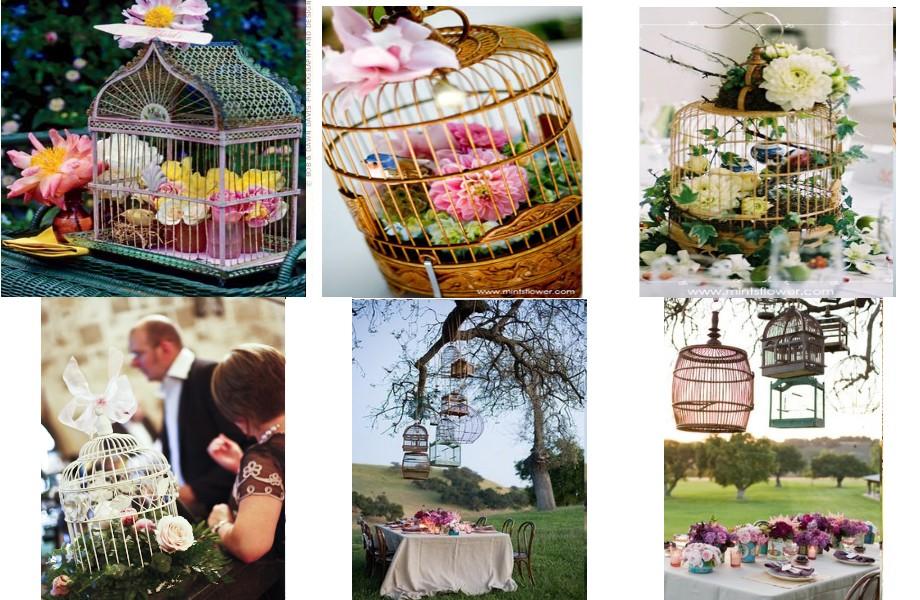 Once upon a time deco de table - Plan de table cage oiseau ...