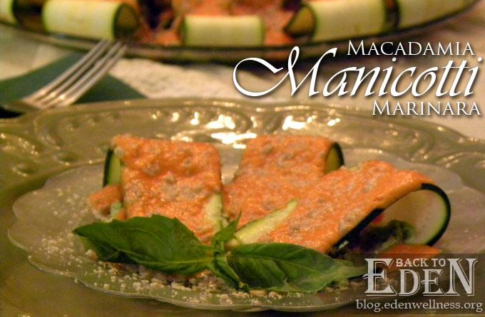 Macadamia Manicotti Marinara - {Back to Eden Health Ministry}