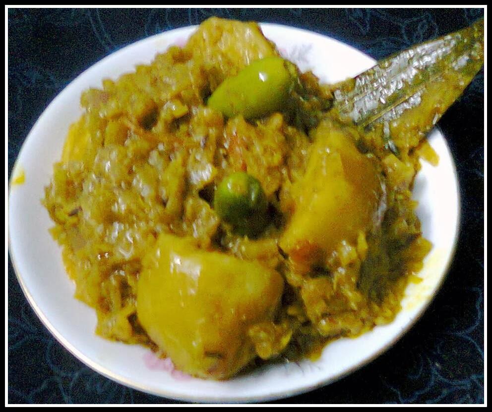 Healthy Papaya Curry/ Potato- Papaya curry/Aloo-Papita ...