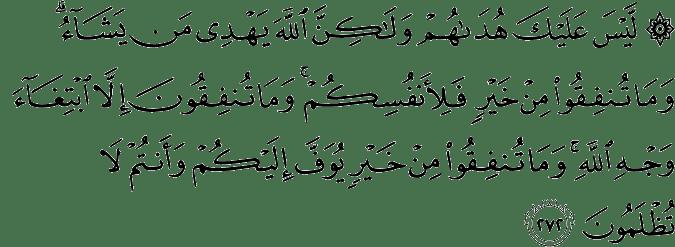 Surat Al-Baqarah Ayat 272