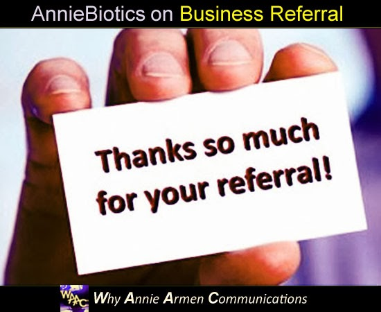 Thanks So Much For Your Referral | WhyAnnieArmen.com
