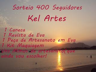 400 seguidores - Kel Artes