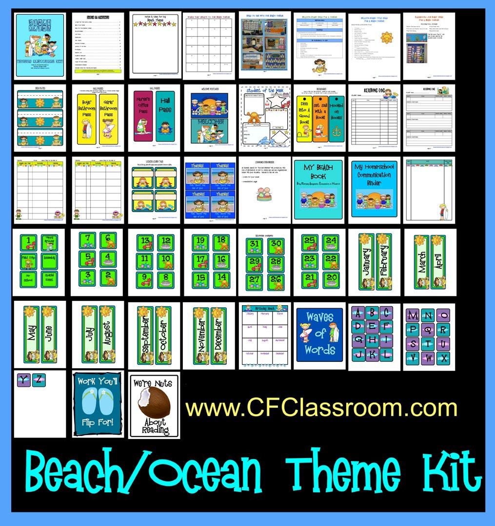 Beach Ocean Themed Classroom